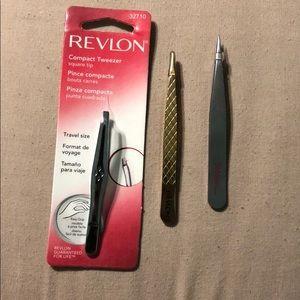 Bundle of 3 eyebrow tweezers